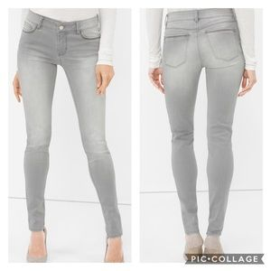 White House Black Market The Skinny Gray Jeans